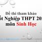 Đề thi tham khảo Tốt Nghiệp THPT 2020 môn sinh hoc